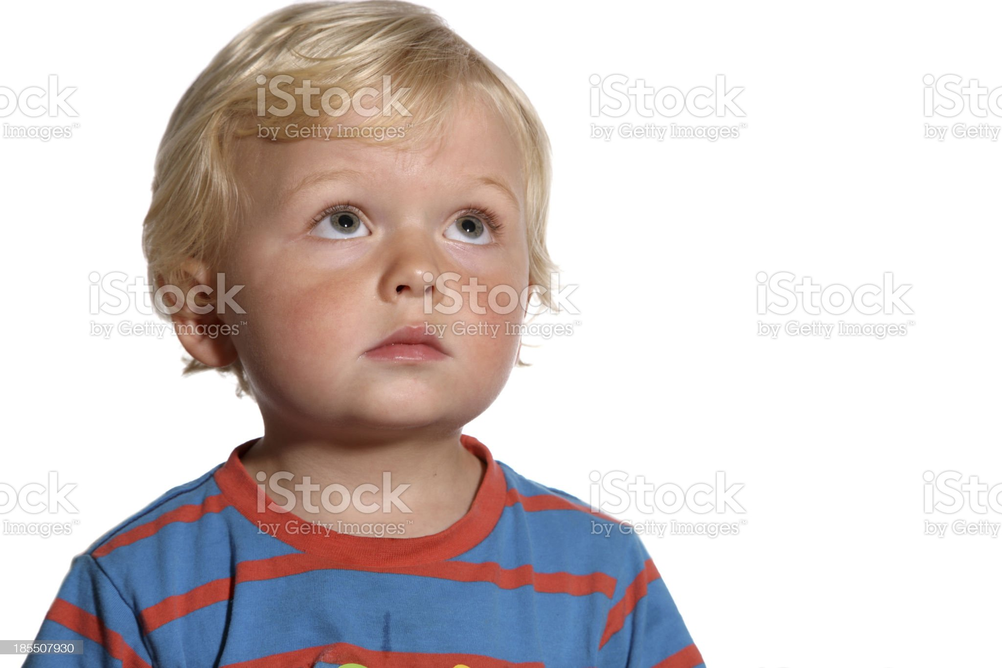 Cute blond two year old royalty-free stock photo