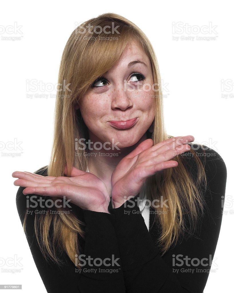 Cute Blonde Girl royalty-free stock photo