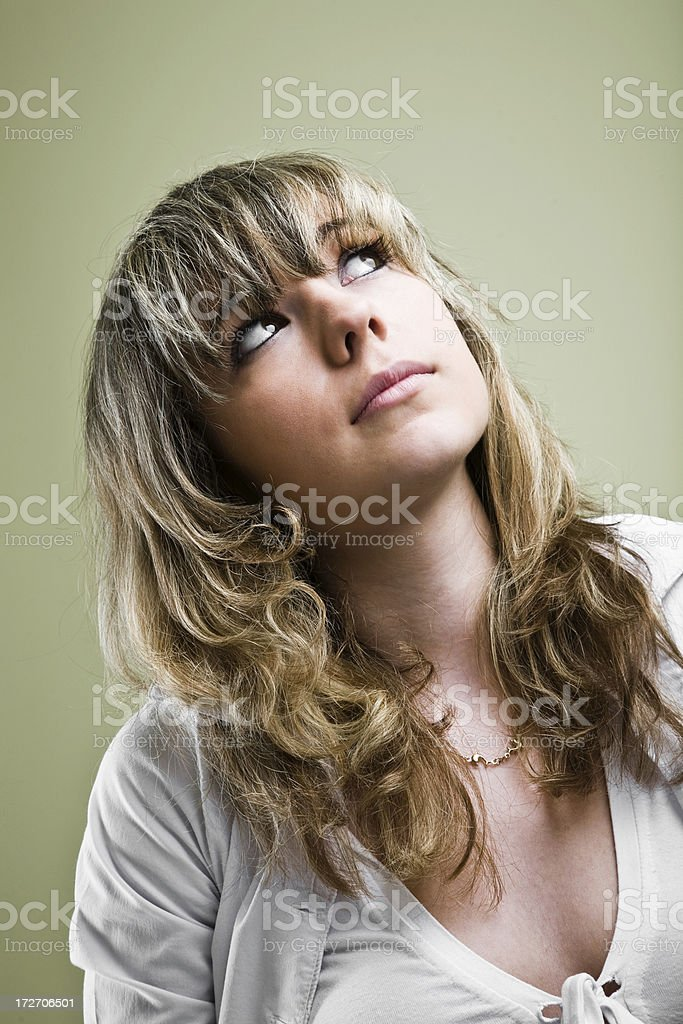 Cute blonde royalty-free stock photo