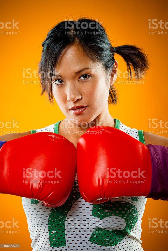 cute boxer girl portrait royalty-free stock photo