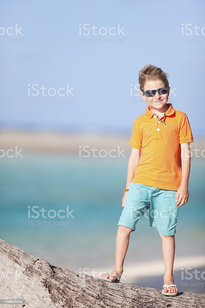 Cute boy on vacation royalty-free stock photo