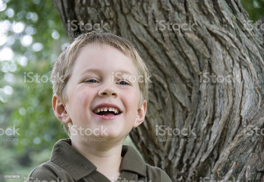 Cute Boy Outdoors Series stock photo