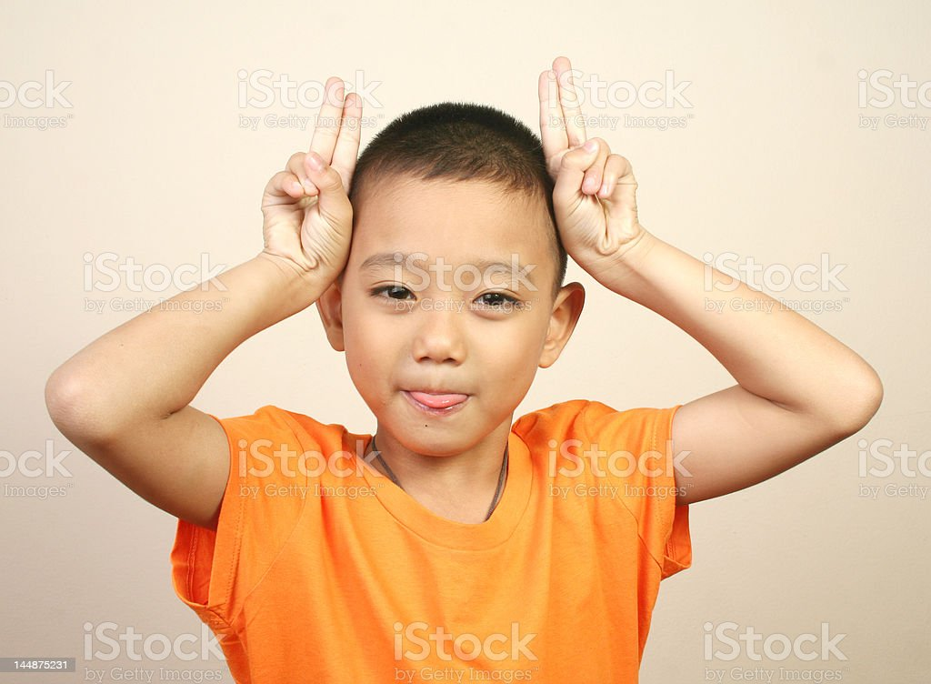 Cute boy (series) royalty-free stock photo