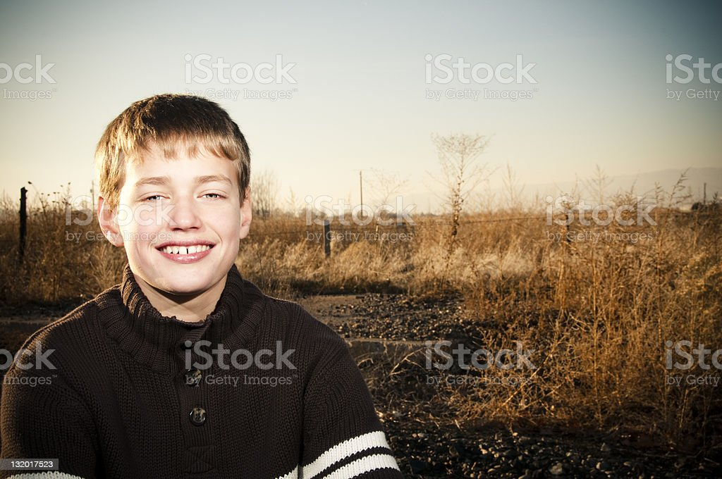 cute boy portrait stock photo