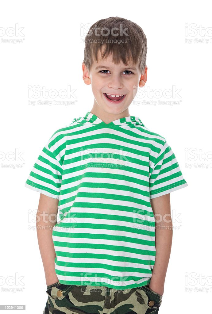 Cute boy smilling stock photo