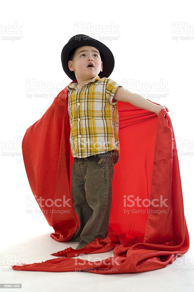 cute boy with hat royalty-free stock photo