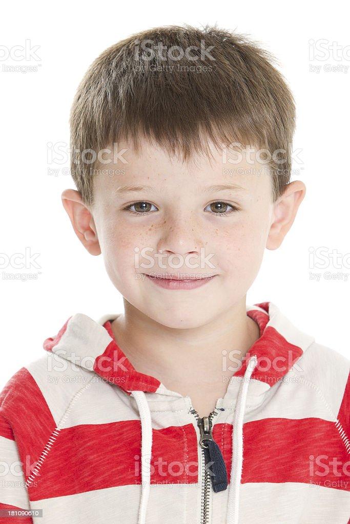 Cute boy's portrait royalty-free stock photo