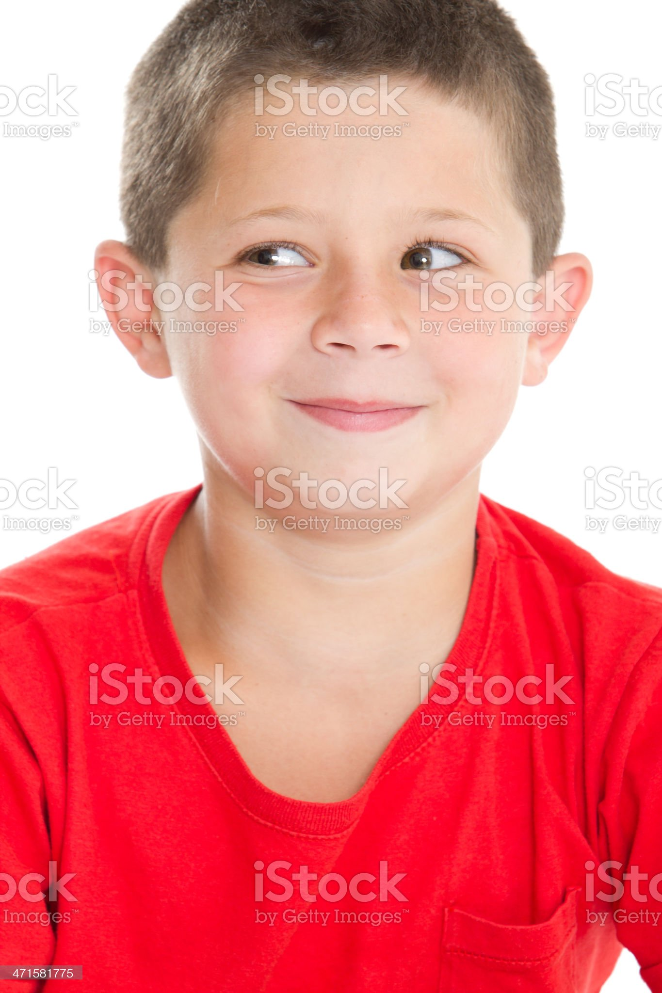 Cute boy's portrait royalty-free stock photo