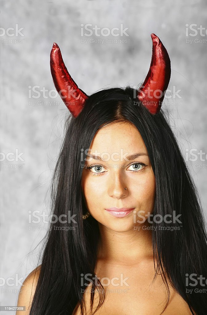 cute brunette face royalty-free stock photo