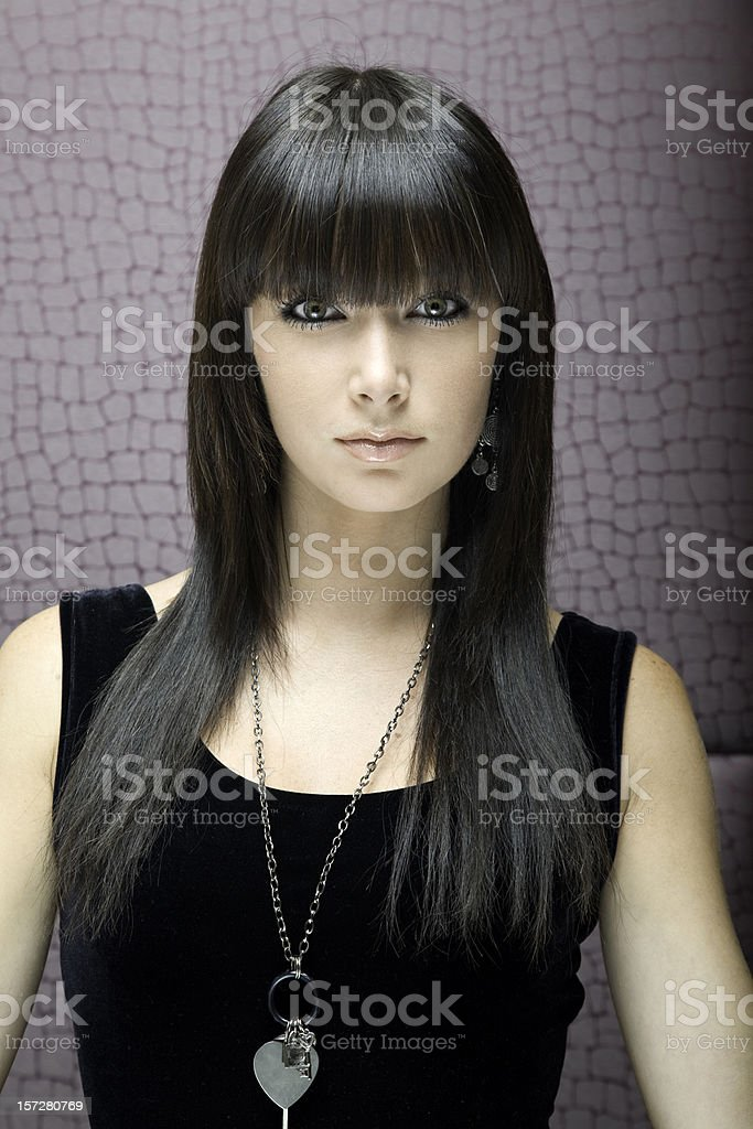 Cute brunette. royalty-free stock photo