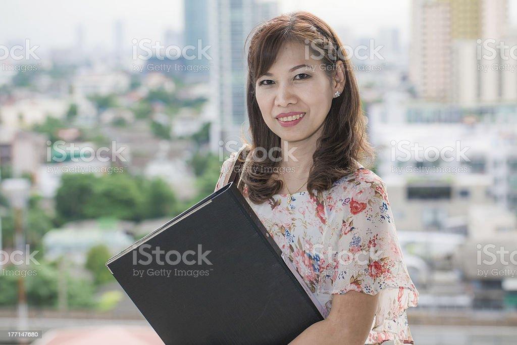 cute businesswoman portrait in office royalty-free stock photo