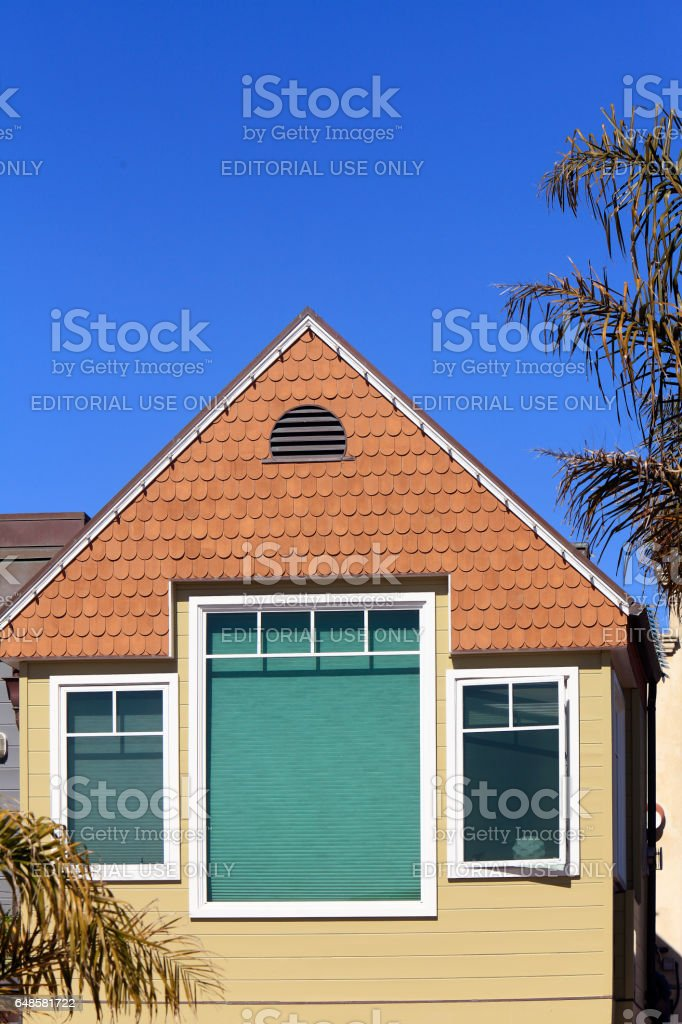 Cute California Shingle Style Cottage stock photo