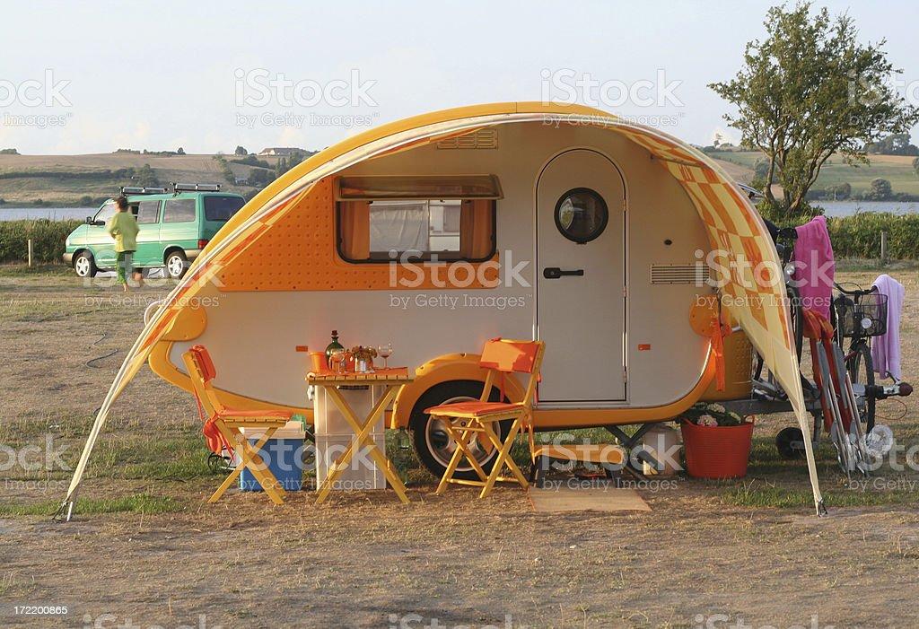 Cute Caravan stock photo