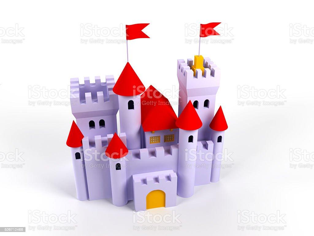 cute castle stock photo