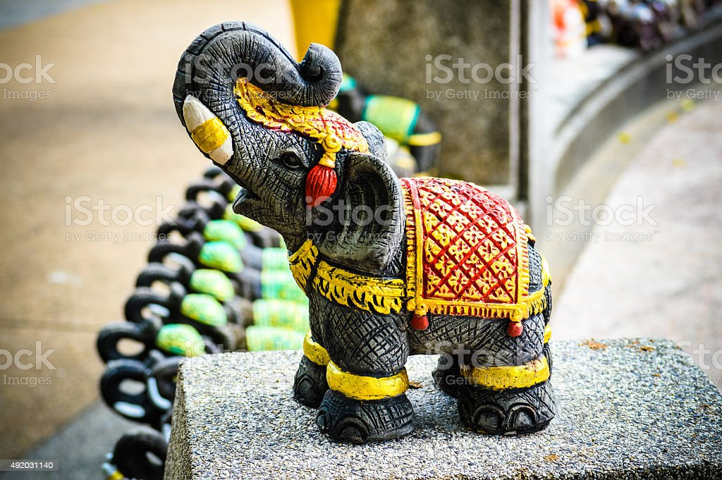 Cute ceramic elephant stock photo
