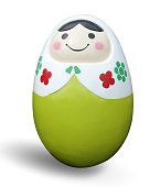 Cute ceramic ellipse doll