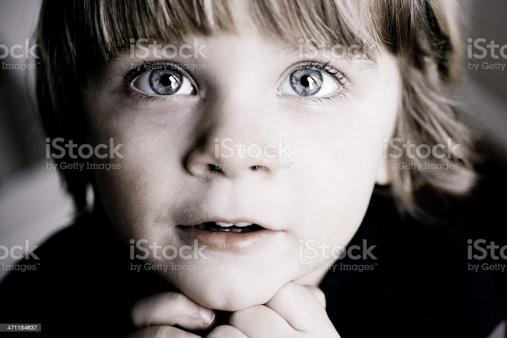 Cute child face close-up royalty-free stock photo