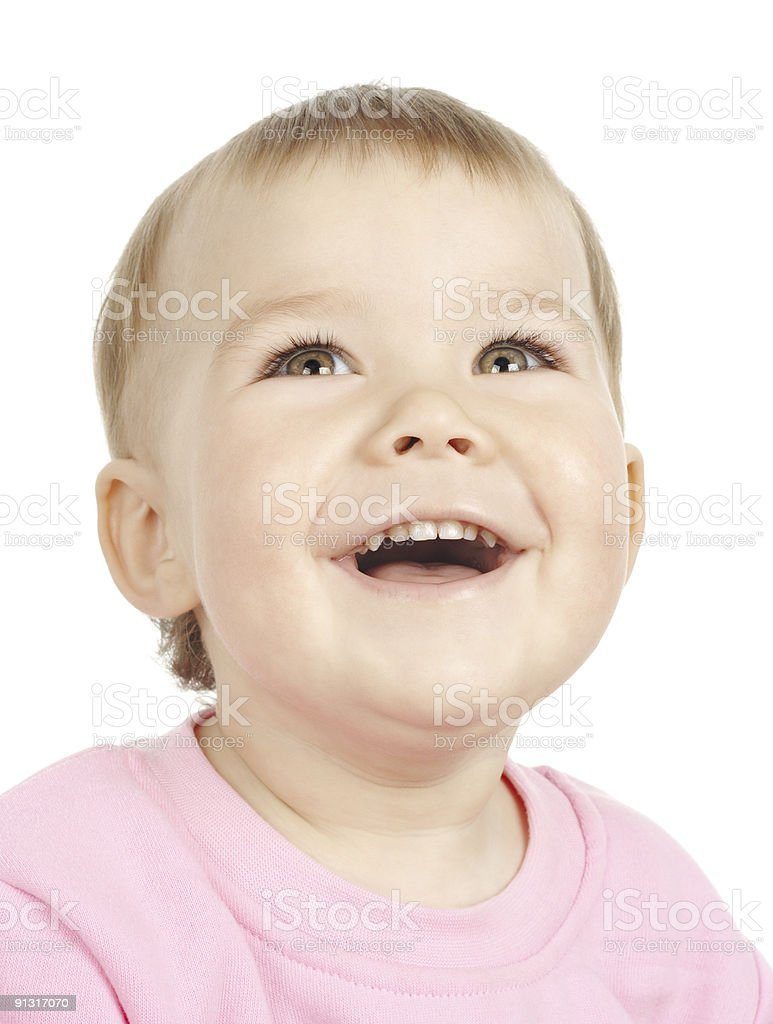 Cute child smiling stock photo