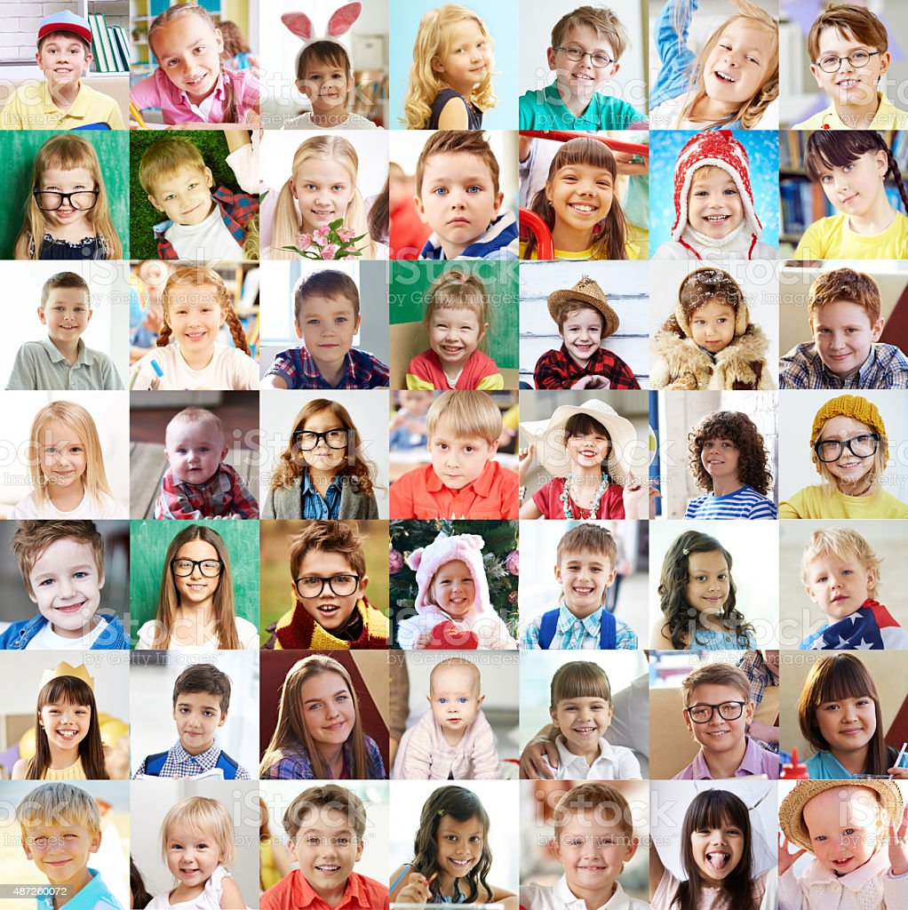 Cute children stock photo