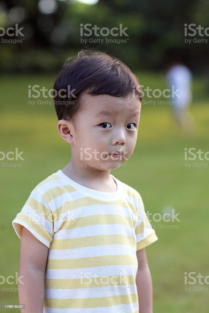 Cute children playing in the park royalty-free stock photo