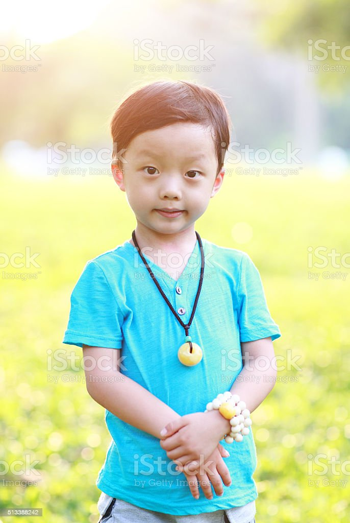 Cute children playing in the park stock photo