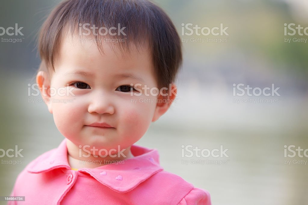 Cute chinese baby royalty-free stock photo