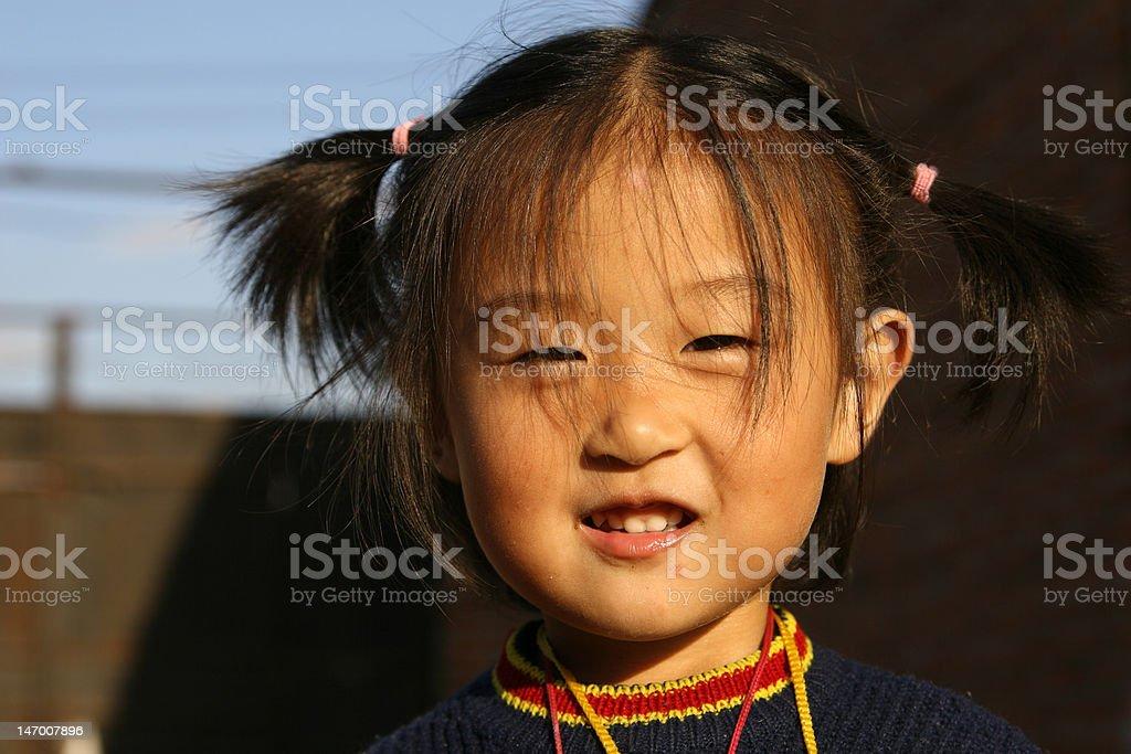 cute Chinese girl stock photo
