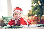 Cute Christmas baby boy