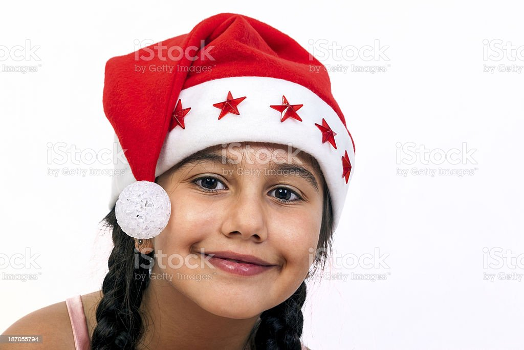 Cute christmas Girl stock photo