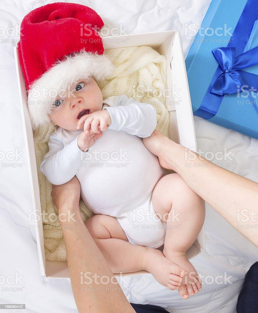 cute christmas present stock photo