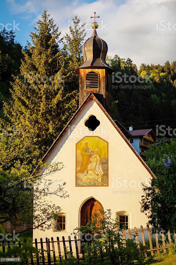Cute church in small Italian village royalty-free stock photo