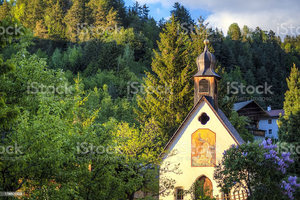 Cute church in small Italian village royalty-free stock photo