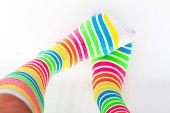 Cute colored multicolored socks