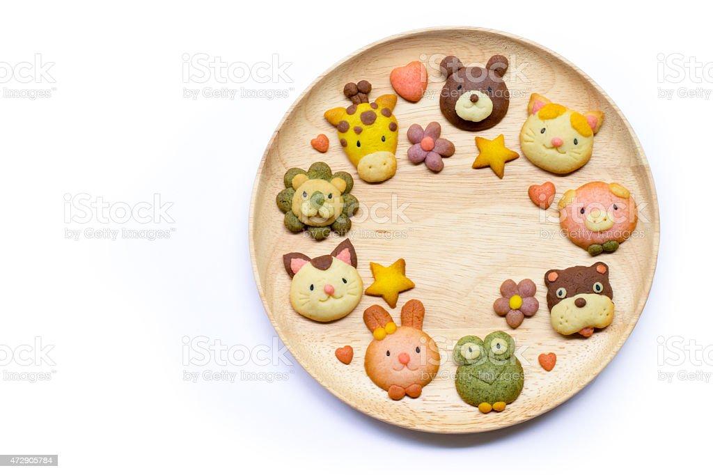 Cute cookies stock photo