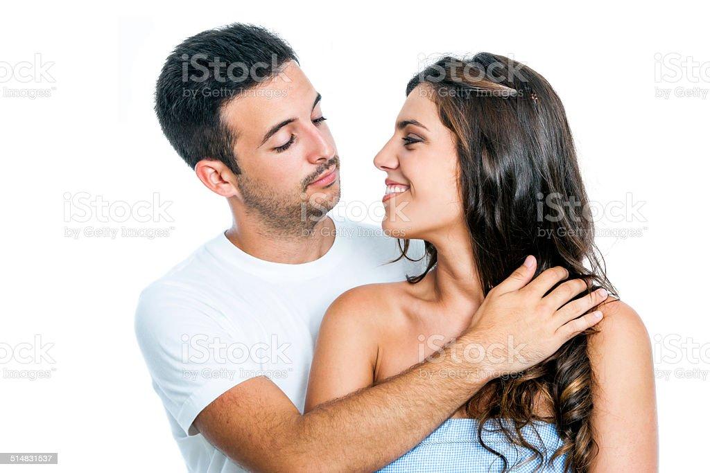Joli couple regardant les uns les autres. photo libre de droits