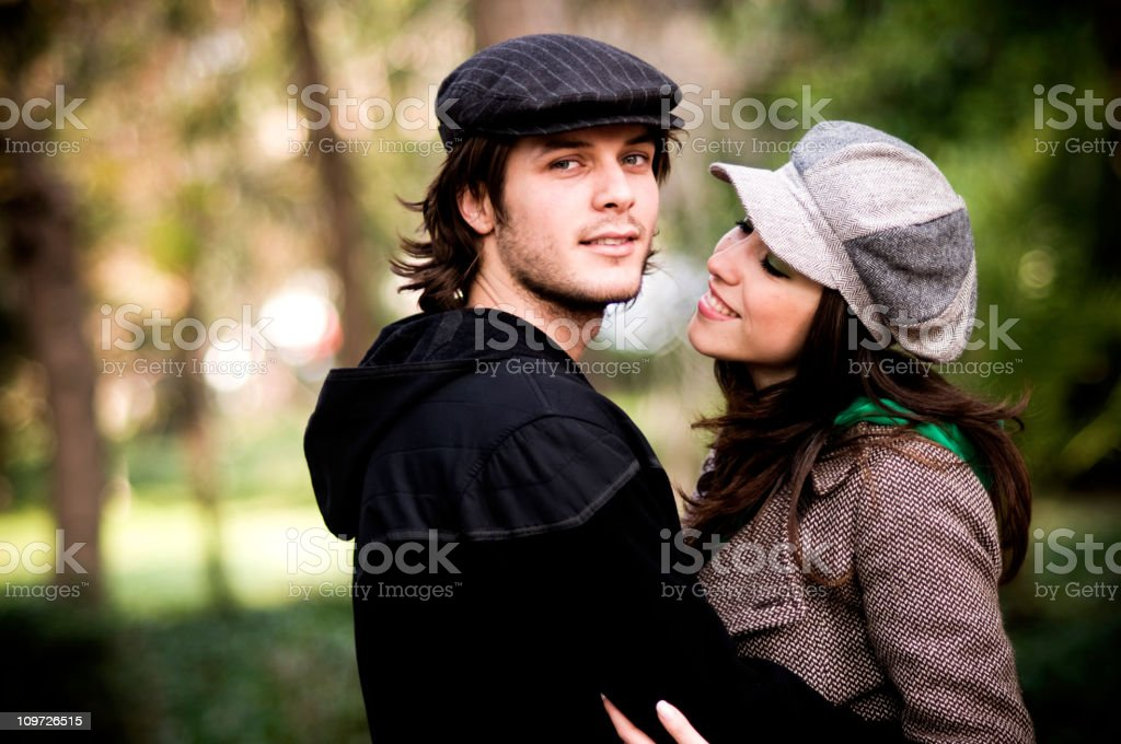 Cute couple... royalty-free stock photo