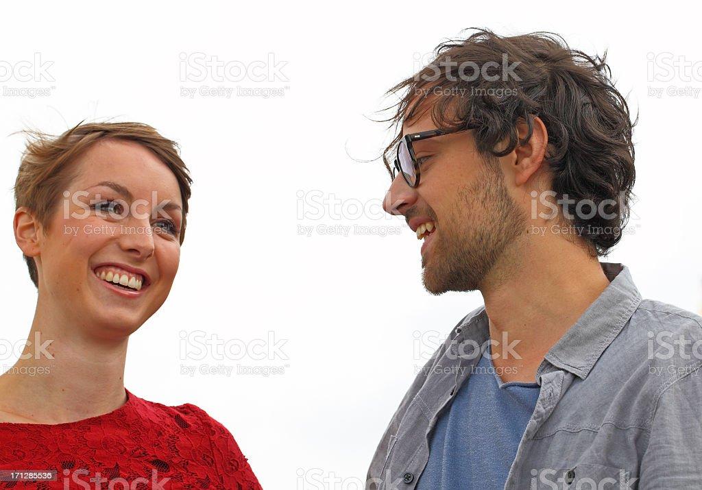 cute couple portrait stock photo