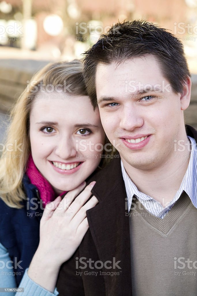 cute couple portraits royalty-free stock photo