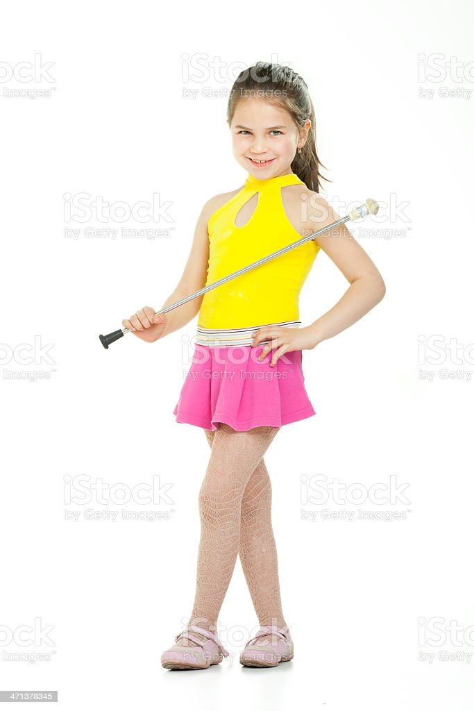 Cute dance stock photo