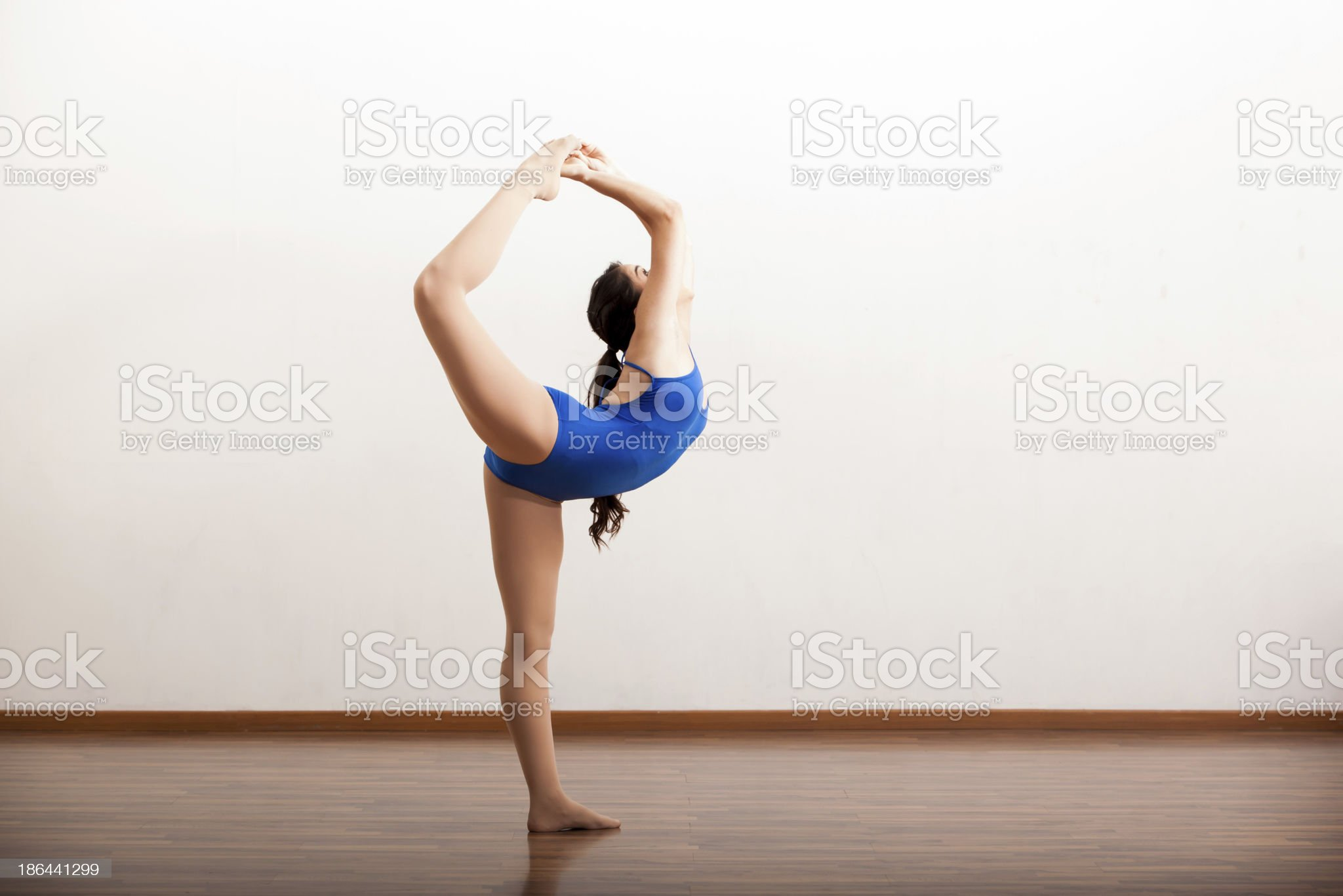 Cute dancer trying out some moves royalty-free stock photo