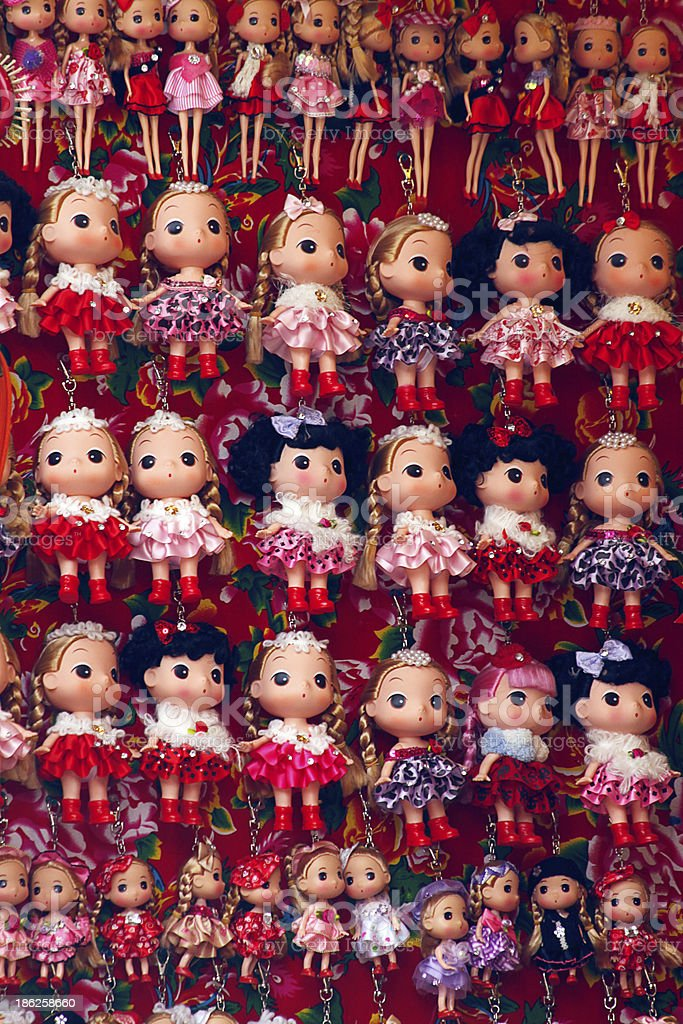 Cute dolls royalty-free stock photo