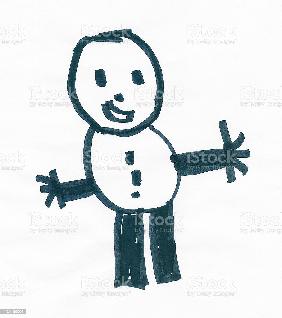 Cute Doodle royalty-free stock photo