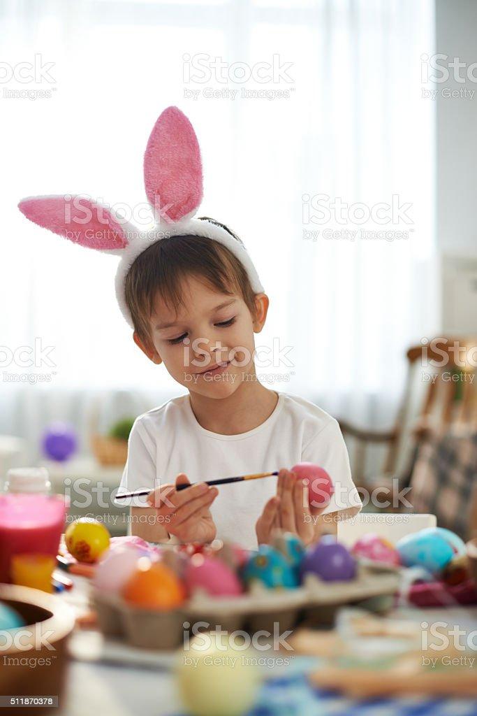 Cute Easter artist stock photo