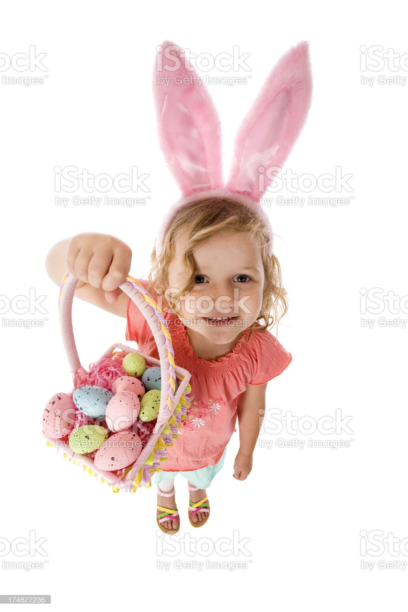 Cute Easter Bunny Girl royalty-free stock photo