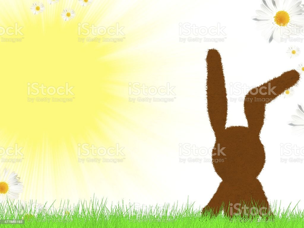 Cute Easter Bunny royalty-free stock photo