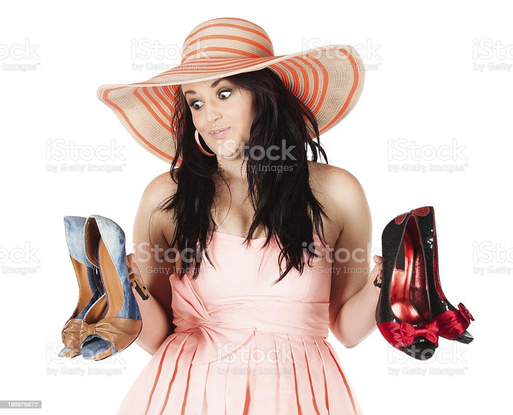 Cute fashion girl royalty-free stock photo
