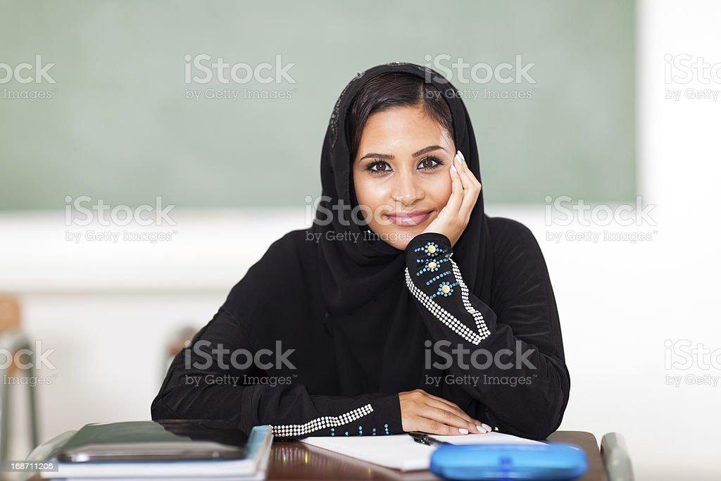 cute female Arabic high shcool student royalty-free stock photo