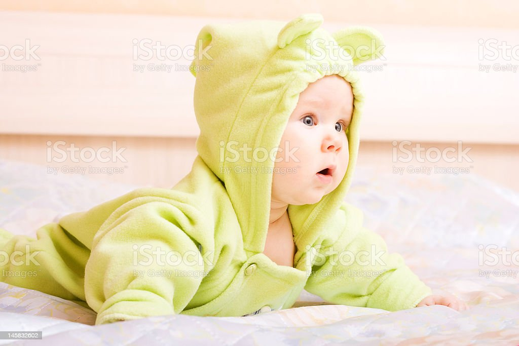 Cute five month baby royalty-free stock photo