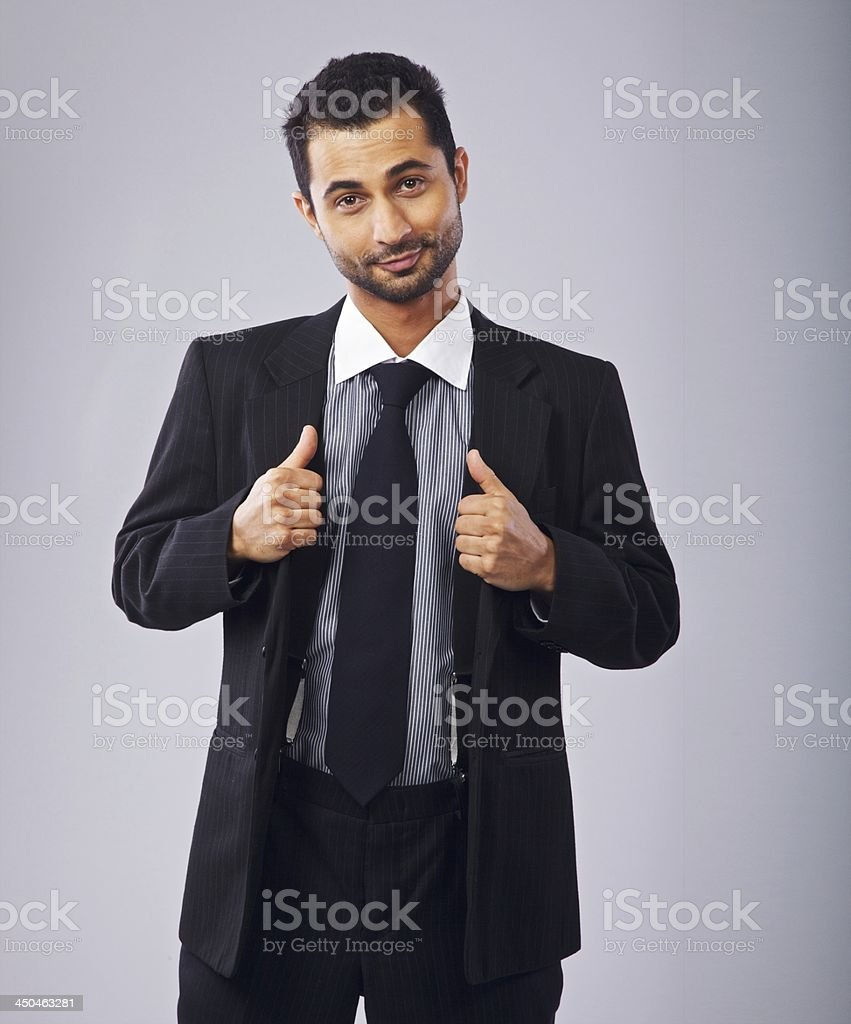 Cute Formal Guy with Confident Attitude stock photo