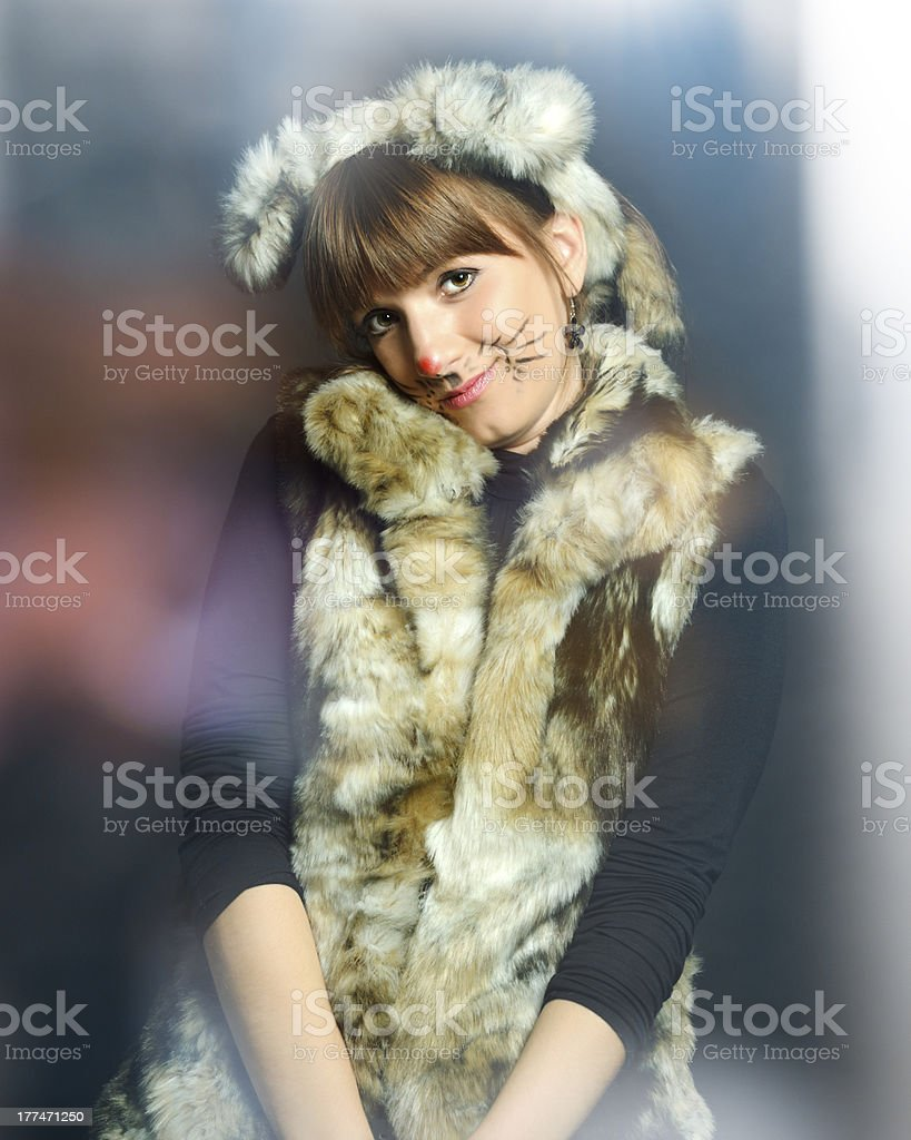 cute fox lady royalty-free stock photo